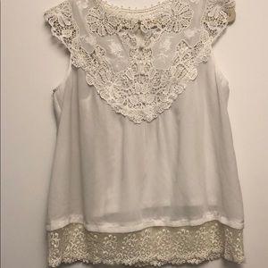 Tops - EISLEY White tunic blouse